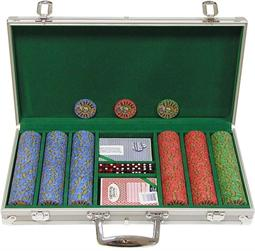 300 10g Chip Desert Sands Casino Poker Set w/Aluminum Case