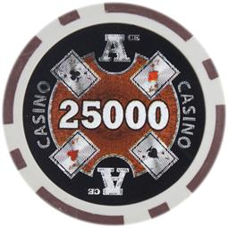 Ace Casino 14 gram - $25000 Sold by the Roll 25 pcs. per Roll