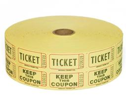 Raffle Tickets - 2000 Double Stub Tickets