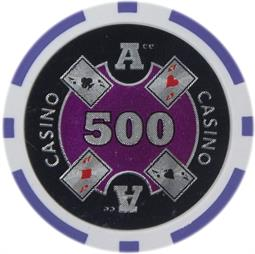 Ace Casino 14 gram - $500 Sold by the Roll25 pcs. per Roll