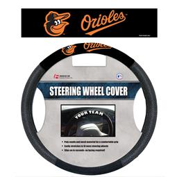 Baltimore Orioles Poly-Suede Steering Wheel Cover
