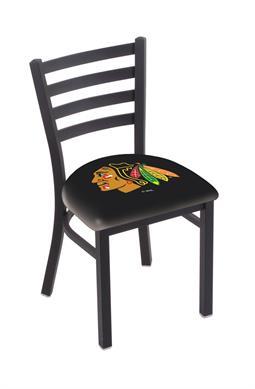 Astounding L00418 Black Wrinkle Chicago Blackhawks Stationary Chair Lamtechconsult Wood Chair Design Ideas Lamtechconsultcom