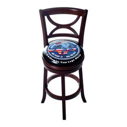 Custom Premium Wooden Bar Stool with Back