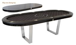 Double Agent Hold'em Poker Table with Premium Chromed Legs