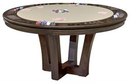 City Round Reversible Top Game Table With Storage, 60inch