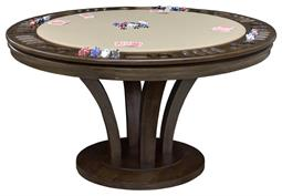 Venice Round Reversible Top Game Table With Storage, 60 inch