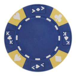 Ace King Suited 14 Gram Poker Chips Blue - Roll of 25 pcs