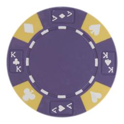 Ace King Suited 14 Gram Poker Chips Purple - Roll of 25 pcs