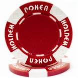 Red Suit Holdem Casino Poker Chip 11.5gm