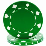 Green Suited Casino Poker Chip 11.5 gm