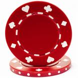Red Suited Casino Poker Chip 11.5 gm
