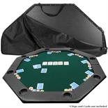 Octagon Padded Poker Table Top Green