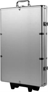 1000 Capacity Chip Case Trolley - Aluminum w/ Wooden Insert