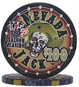 Nevada Jacks 100 Dollar Chips Sold by the Roll