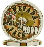 Nevada Jacks 1000 Dollar Chips Sold by the Roll