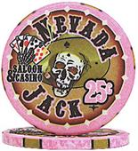 Nevada Jacks 25 Cent Chips Sold by the Roll