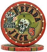 Nevada Jacks 5 Dollar Chips Sold by the Roll