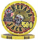 Nevada Jacks 500 Dollar Chips Sold by the Roll