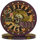 Nevada Jacks 5000 Dollar Chips Sold by the Roll