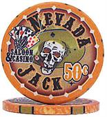 Nevada Jacks 50 Cent Chips Sold by the Roll