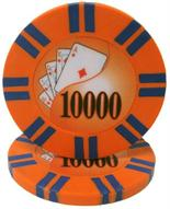 2 Stripe Twist Series 8 gram Poker Chip $10000 Sold by the Roll 25 pcs. per Roll