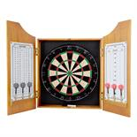 Solid Wood Dart Cabinet with Dartboard and Darts