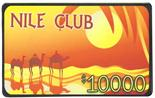 $10,000 Nile Club 10 Gram Ceramic Plaque Sold by the Roll 25 pcs. per Roll