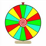 Prize Wheel 24 inch Dry Erase Color Face