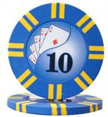 2 Stripe Twist Series 8 gram Poker Chip $10 Sold by the Roll 25 pcs. per Roll