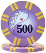 2 Stripe Twist Series 8 gram Poker Chip $500 Sold by the Roll 25 pcs. per Roll