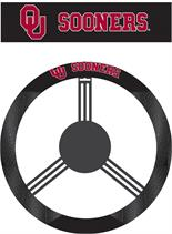 Poly-Suede Steering Wheel Cover with Oklahoma Sooners