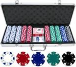 500 Dice 11.5g Clay Poker Chips Aluminum Case Promo Set