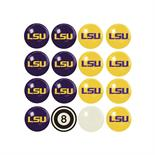 Louisiana State University Home VS Away Billiard Ball Set