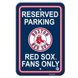 Boston Red Sox Plastic Parking Sign