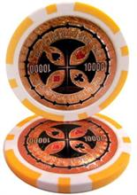 The Ultimate Poker Chip Series 14 gram - $10000 Sold by the Roll 25 pcs. per Roll