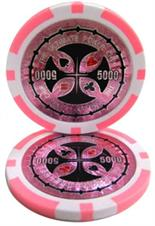 The Ultimate Poker Chip Series 14 gram - $5000 Sold by the Roll 25 pcs. per Roll