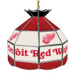 NHL 16 Inch Handmade Stained Glass Lamp - Detroit Redwings