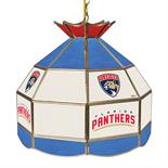 NHL 16 Inch Handmade Stained Glass Lamp - Florida Panthers