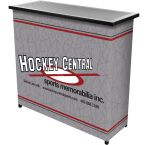 Custom Metal 2 Shelf Portable Bar with Carrying Case portable bar gameroom tailgating bar