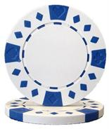 White Diamond Suited Poker Chips 12.5 gram Poker Chips