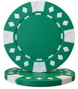 Green Diamond Suited Poker Chips 12.5 gram Poker Chips