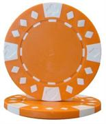 Orange Diamond Suited Poker Chips 12.5 gram Poker Chips