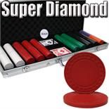 500 Super Diamond Chips in Aluminum Case