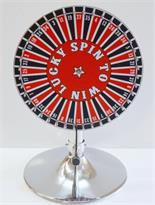 Prize Wheel 15 inch with 40 Numbers On Stand with Laydown