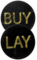 BUY / LAY CHIP BUTTON FOR CRAPS