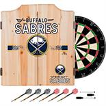 NHL Dart Cabinet Set with Darts and Board - Buffalo Sabres