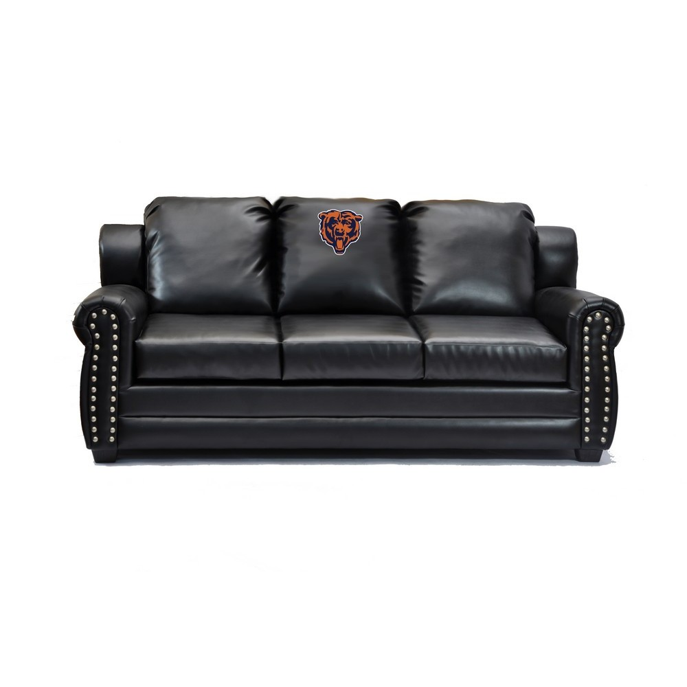 Chicago Bears Coach Leather Sofa