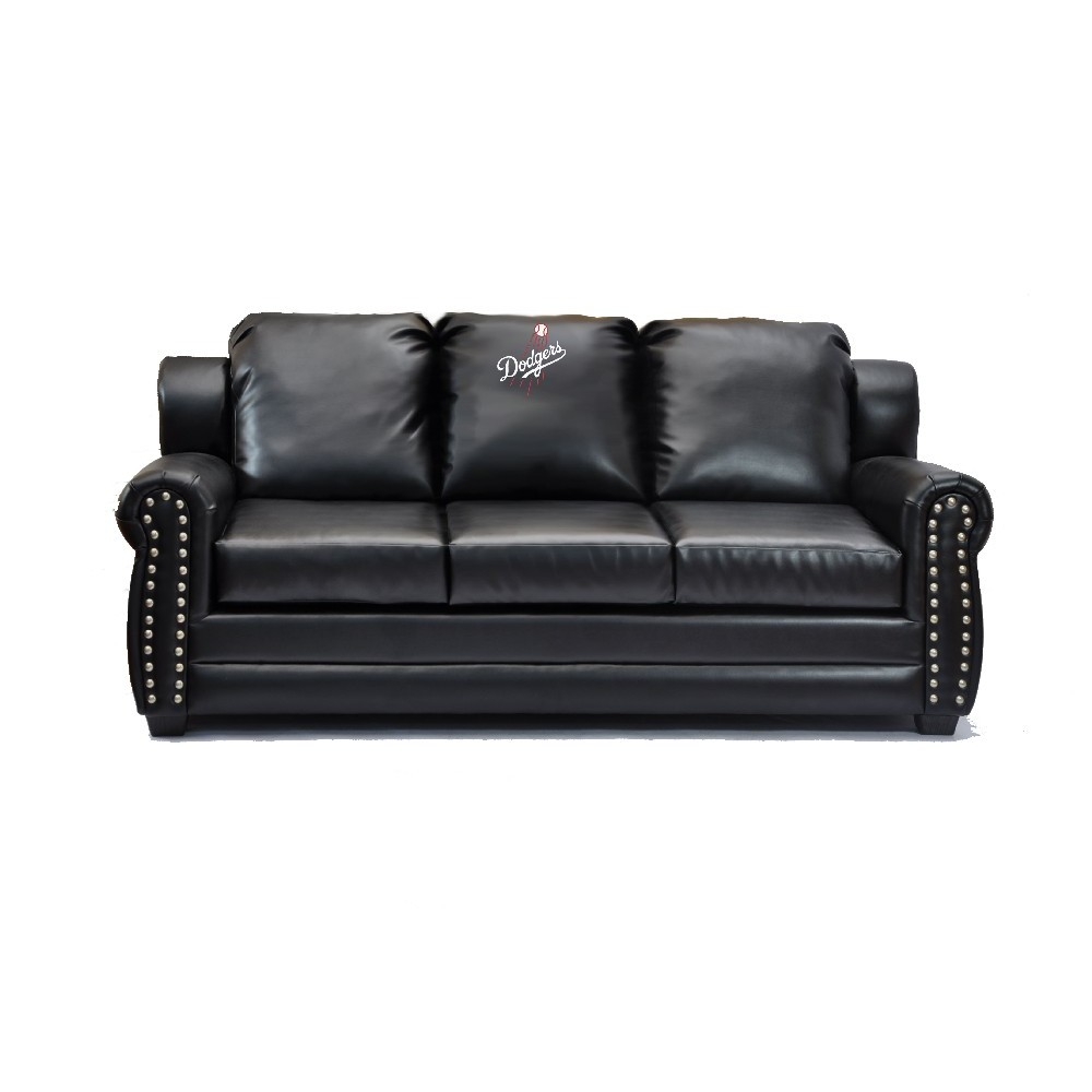 Los Angeles Dodgers Coach Leather Sofa