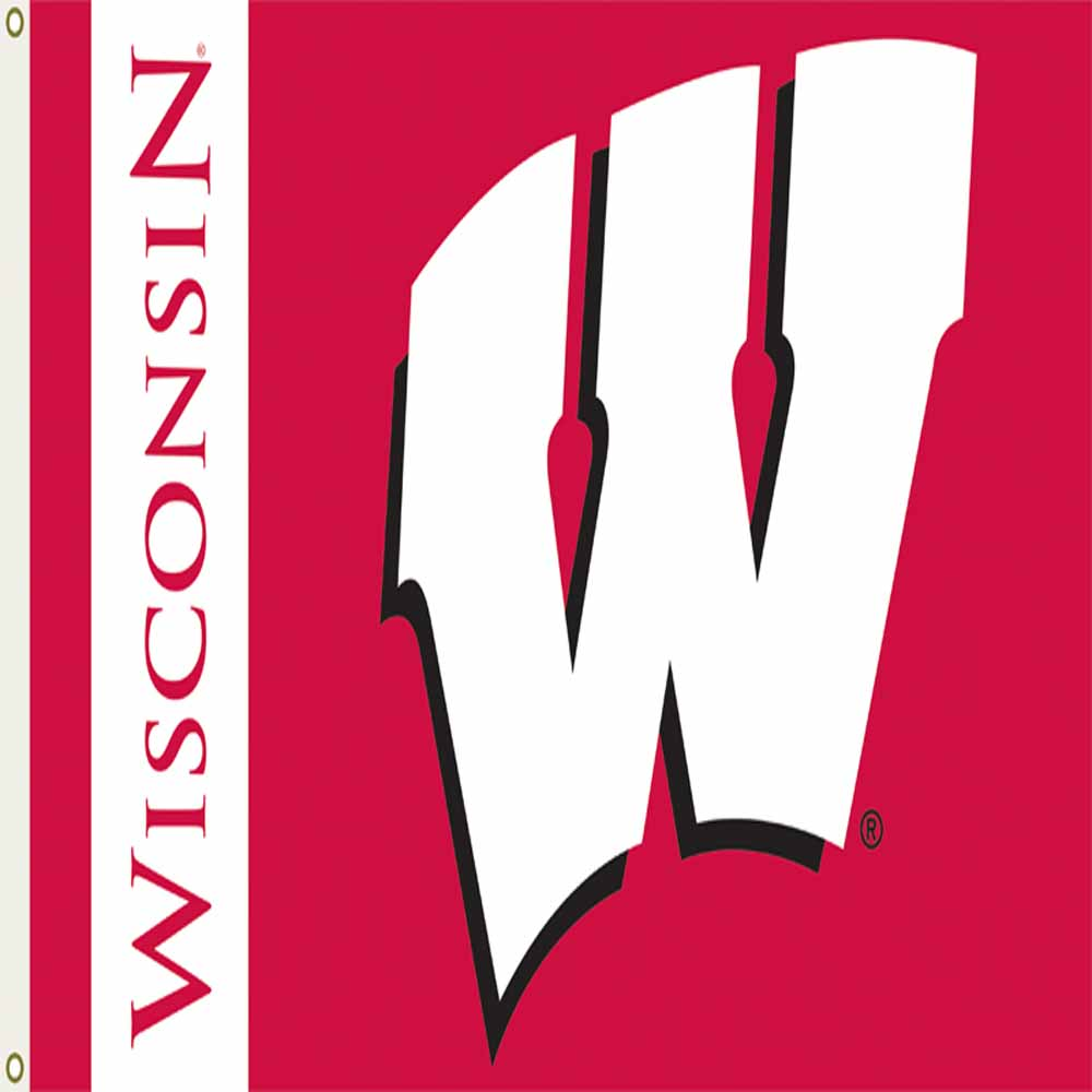 Wisconsin Badgers 3 Ft. X 5 Ft. Flag W/Grommets
