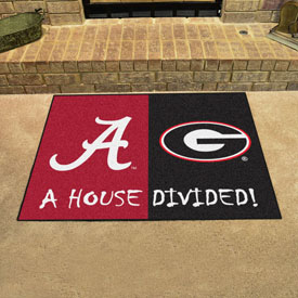 Alabama - Georgia House Divided Rug 33.75x42.5